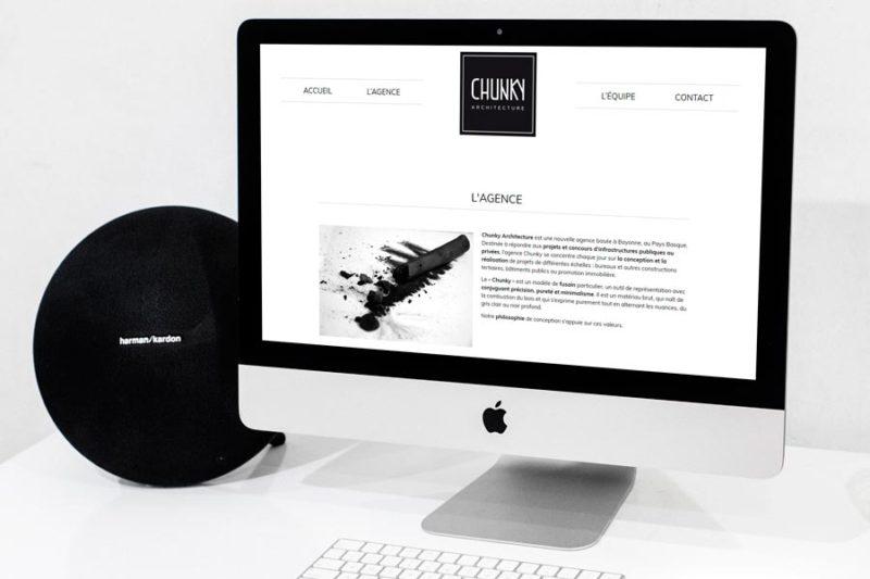 Un nouveau site internet pour le nouvelle agence d'architecte Chunky à Bayonne