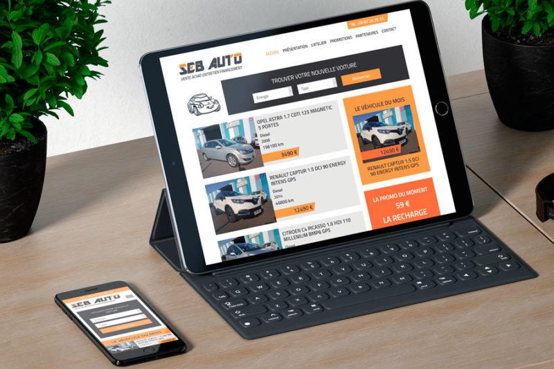 Le garage SEB AUTO rénove son site Internet et passe au responsive mobile