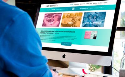 L'auto-école GECA choisit l'agence web REZO 21 pour la création de son site Internet responsive mobile