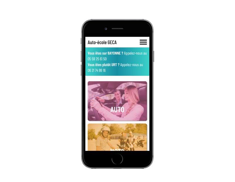 Site web pour auto-école au pays basque responsive mobile