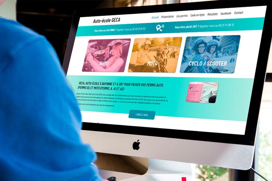 Site web pour auto-école au pays basque à la une