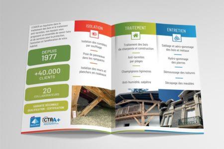 Studio de conception graphique pour flyer recto-verso A5 au Pays Basque