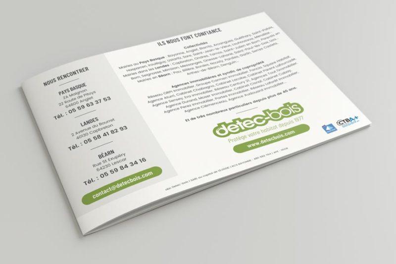 Studio de conception graphique pour plaquette 2 volets 4 pages à l'italienne au Pays Basque