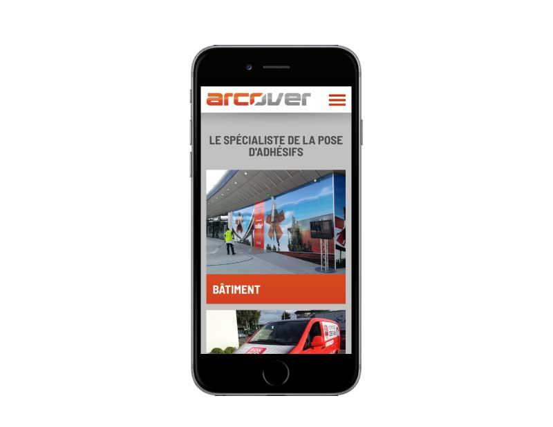 Site internet société de service en pose de signalétique adhésive responsive mobile