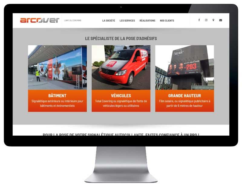 Site internet société de service en pose de signalétique adhésive responsive