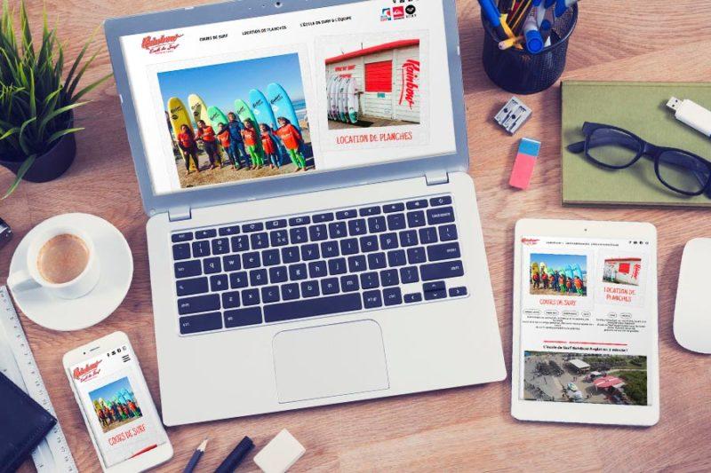 L'école de surf Rainbow d'Anglet renouvelle son site Internet avant le lancement de la saison estivale