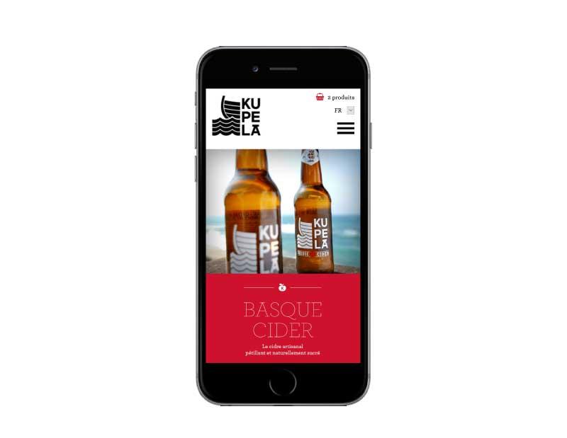 Ecommerce pour vente cidres et jus de pommes pays basque responsive mobile