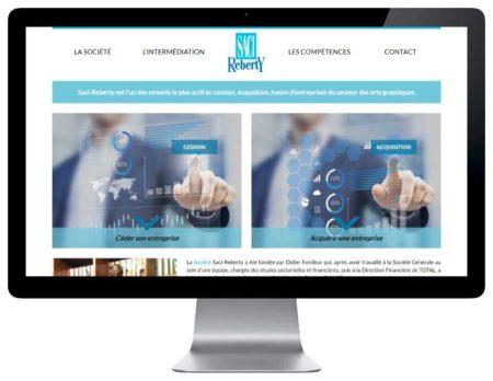 Site wordpress responsive pour societe conseil cession acquisition responsive