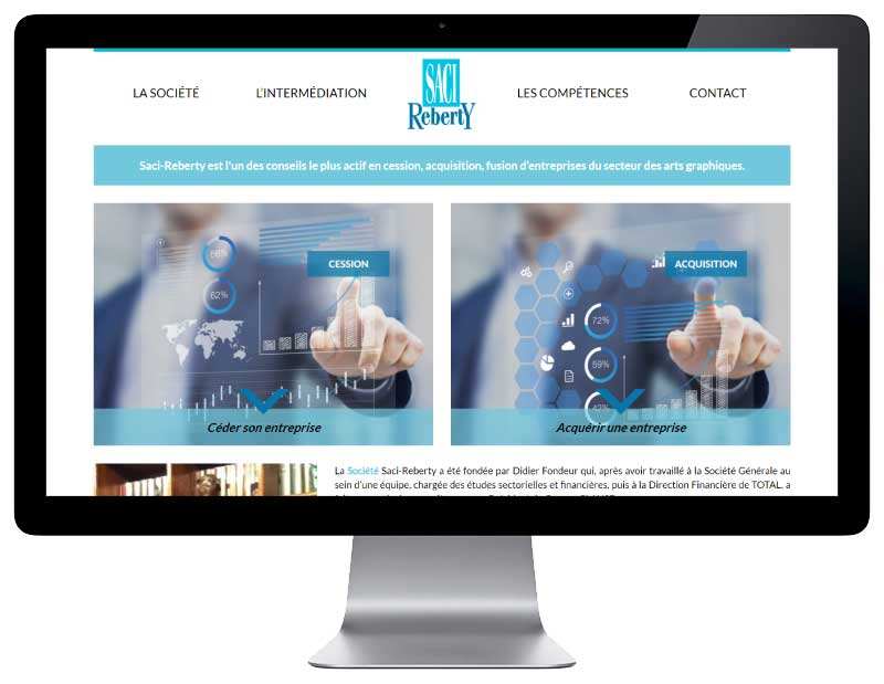 Site wordpress responsive pour societe conseil cession acquisition responsive