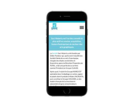 Site wordpress responsive pour societe conseil cession acquisition mobile