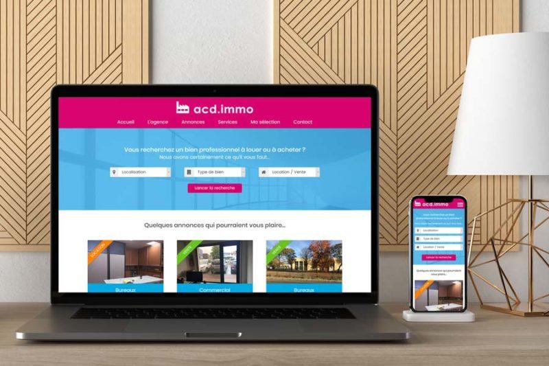 L'agence immobilière ACD.IMMO lance son nouveau site Internet responsive WordPress avec REZO 21