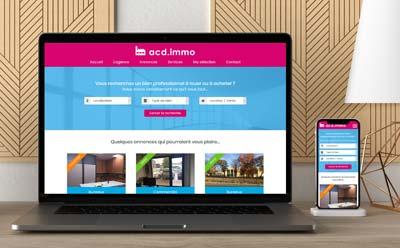 Site internet wordpress responsive pour agence immobilière