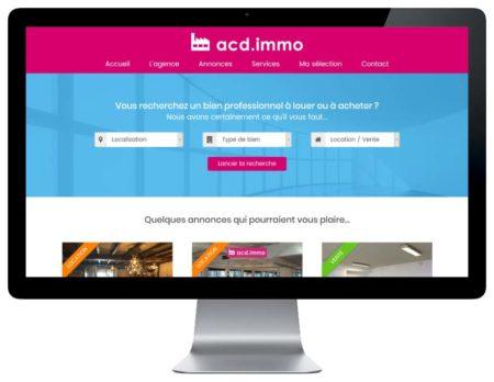 Site internet wordpress responsive pour agence immobilière sur ordinateur