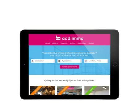 Site internet wordpress responsive pour agence immobilière sur tablette