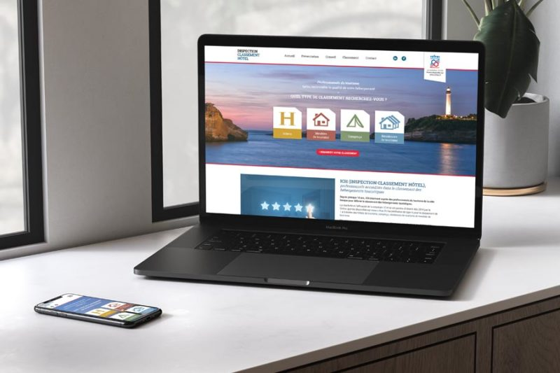 Conception graphique d'un site Internet responsive pour services aux professionnels du tourisme