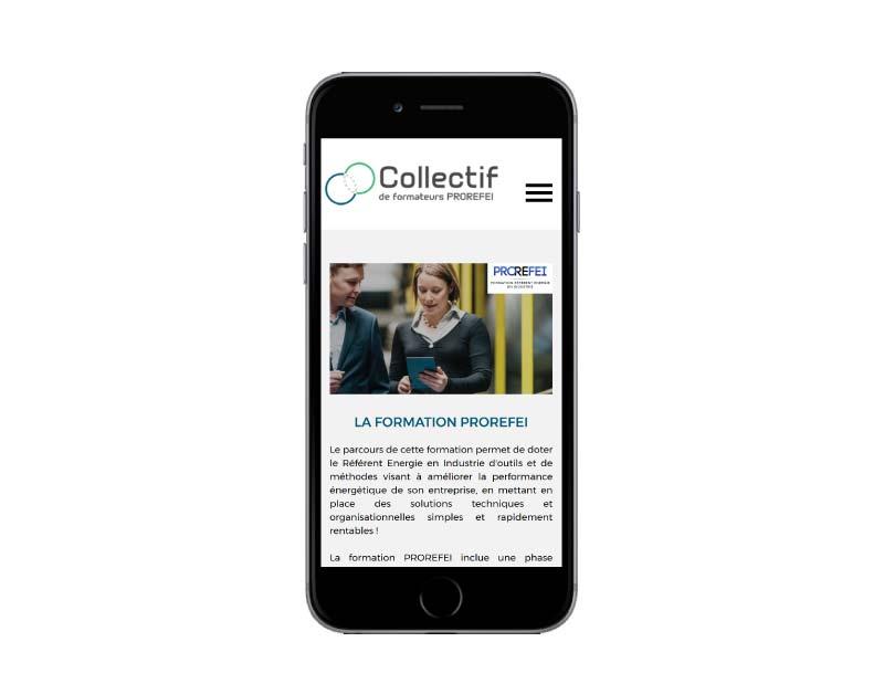 Site internet responsive mobile centre de formation énergie mobile