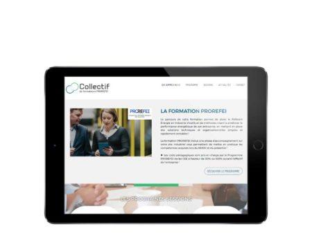 Site internet responsive mobile centre de formation énergie tablette