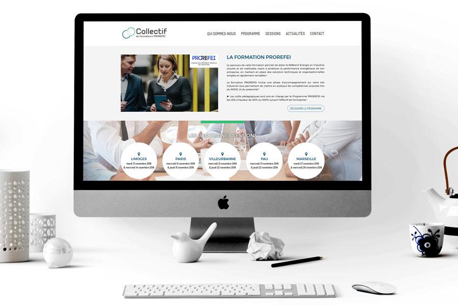 Site internet responsive mobile centre de formation énergie