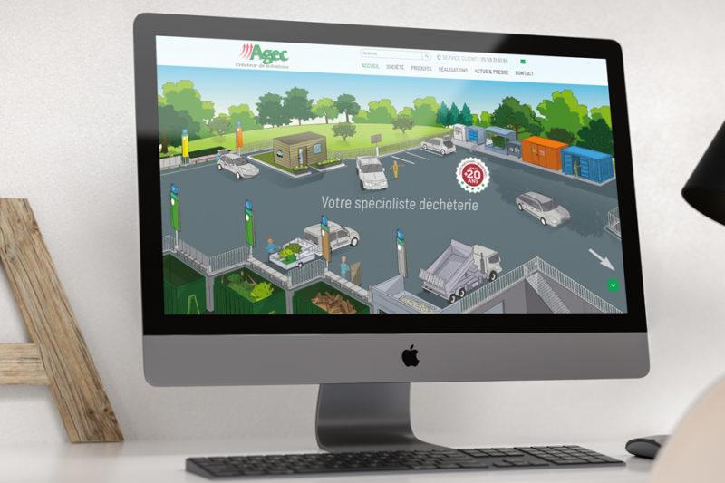 AGEC, spécialiste de l'équipement des déchèteries choisit l'agence web REZO 21 pour la refonte de son site Internet