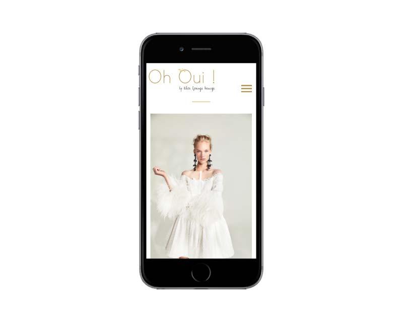 Création du site internet responsive mobile pour une boutique mariage à Bairritz