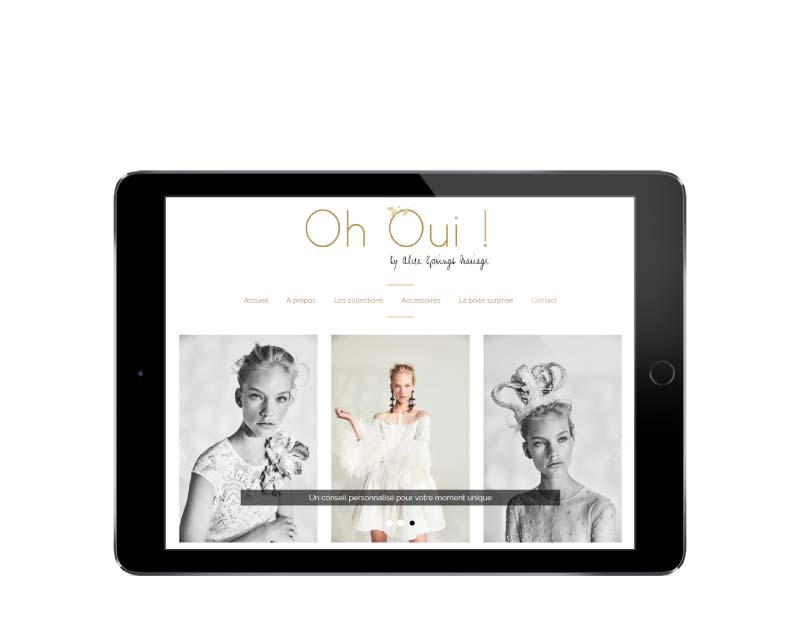Création du site internet responsive mobile pour une boutique de Biarritz responsive tablette