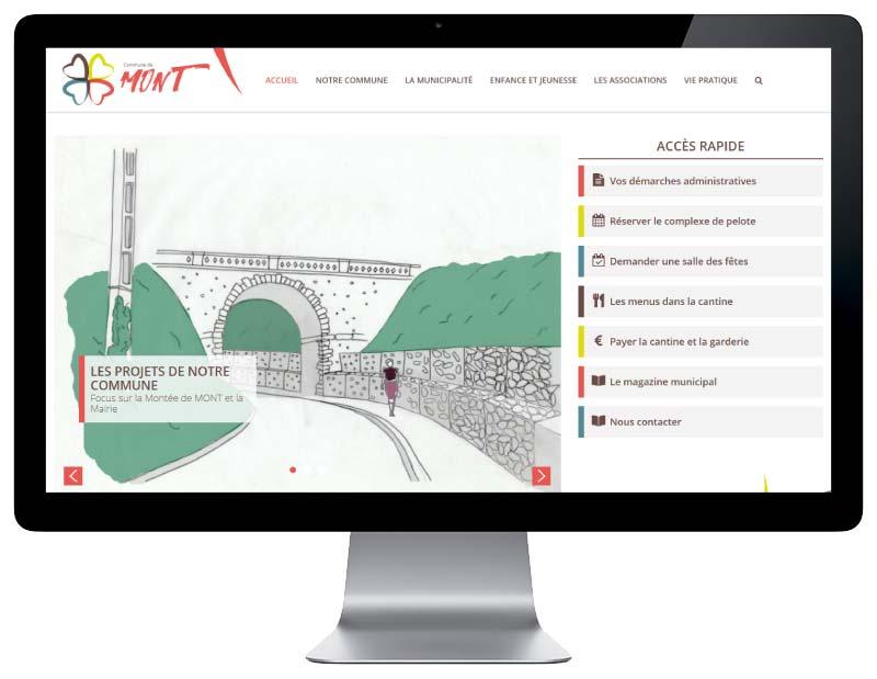 Site internet wordpress responsive pour une mairie du Béarn