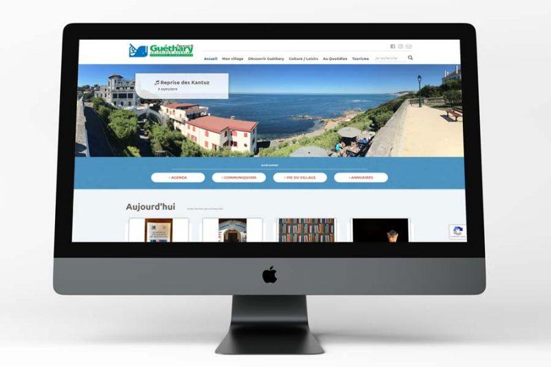 Le nouveau site Internet de la mairie de Guéthary a été développé par l'agence web REZO 21