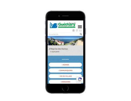 Site internet responsive mobile wordpress pour une mairie du pays basque sur mobile