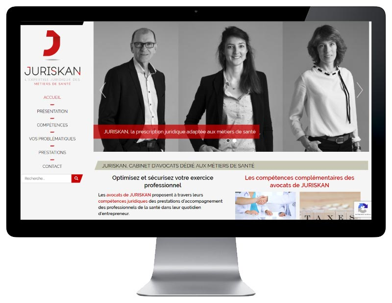 Site Internet WordPress pour cabinet d'avocats au pays basque responsive design
