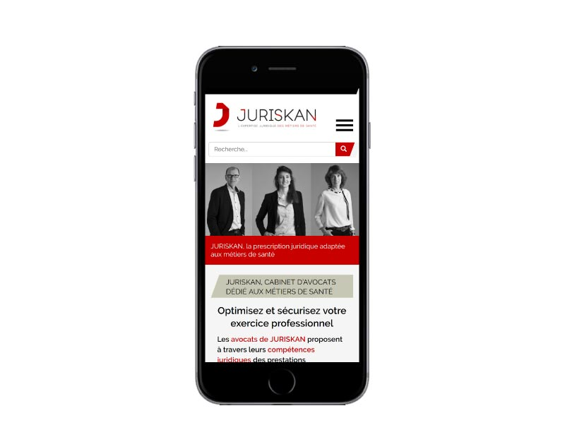Site Internet WordPress pour cabinet d'avocats au pays basque responsive mobile