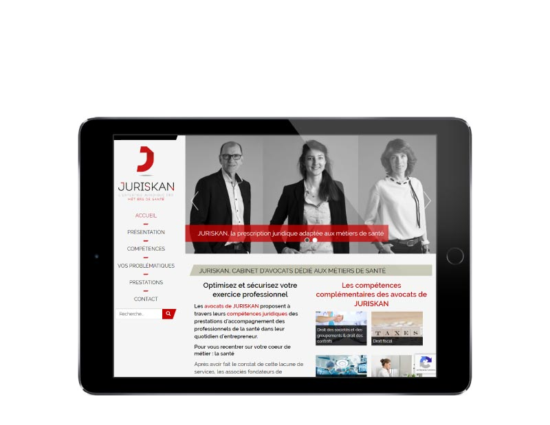 Site Internet WordPress pour cabinet d'avocats au pays basque responsive tablette