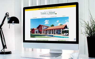 Le constructeur de maisons individuelles Terre & Pierre choisit l'agence web REZO 21 pour la création de son site Internet
