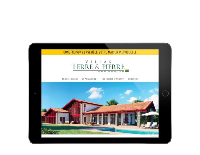 Création site internet pour constructeur de maisons au pays basque