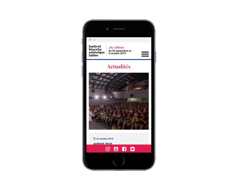 Agence de création de site Internet pour festival de cinéma à Biarritz responsive mobile wordpress