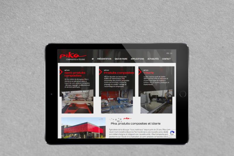 Site Internet responsive mobile WordPress pour Pika Composites Bayonne, une création de site Internet par l'agence web REZO 21 Anglet