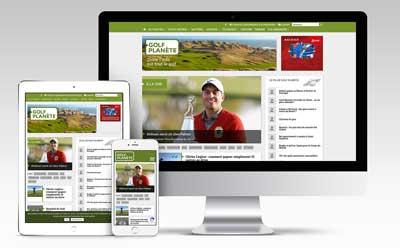 L'agence web REZO 21 développe avec WordPress le nouveau média digital Golf Planète