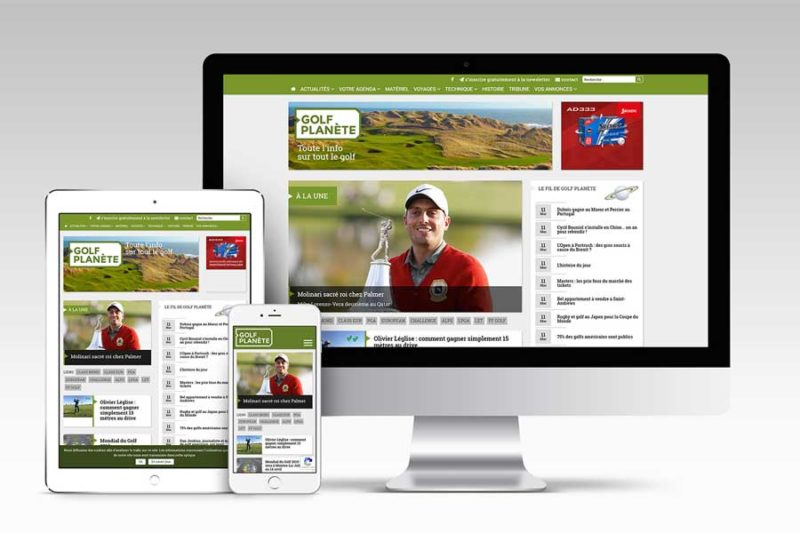 L'agence web REZO 21 s'associe au développement de Golf Planète, le nouveau média Golf en France