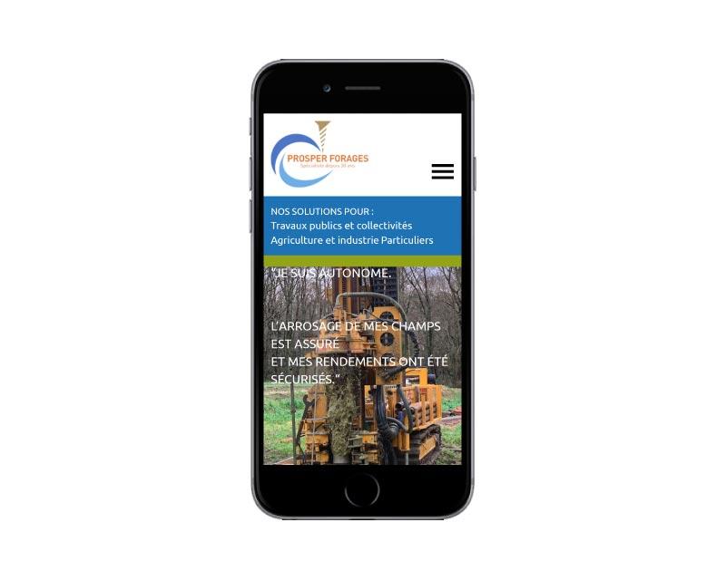 Site Internet wordpress responsive société forage des landes responsive mobile
