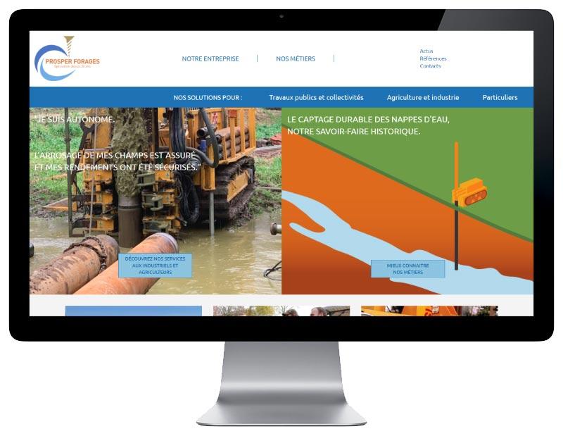 Site Internet wordpress responsive société forage des landes responsive desktop