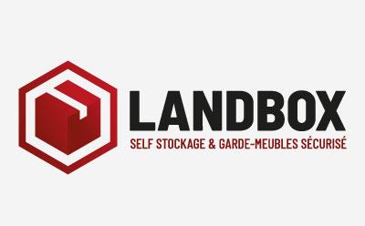 Le studio de design graphique de l'agence REZO 21 réalise la charte graphique de Landbox