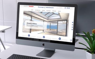 REZO 21 livre le nouveau site Internet de Concept Aluminium, menuiseries aluminium pour la maison