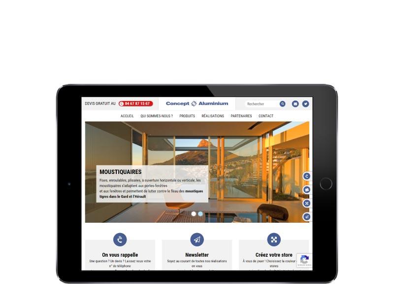 Agence web de création de sites Internet wordpress pour menuiserie aluminium