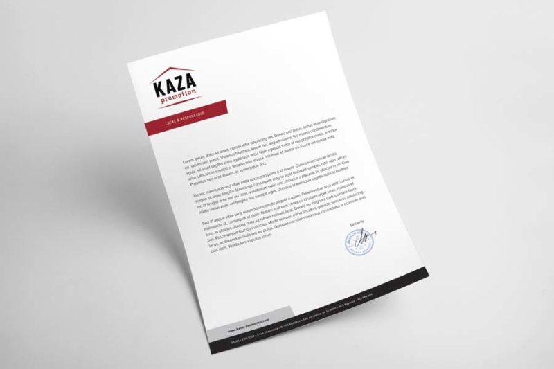 Agence de création graphique au pays basque pour papier à entête