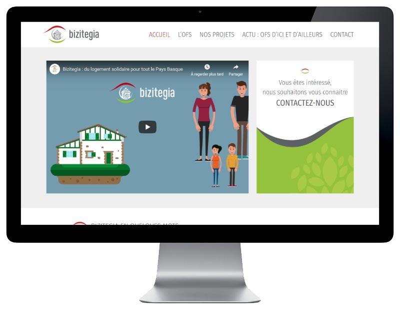 REZO 21, agence web de création de sites Internet au Pays basque développe le site wordpress de Bizitegia