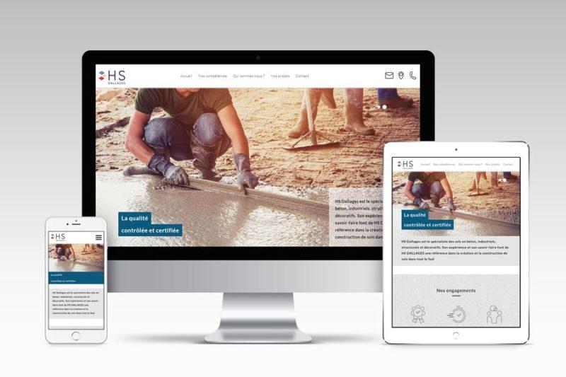 L'agence de communication Bureau 14 confie à REZO 21 l'intégration du site web de son client HS Dallages