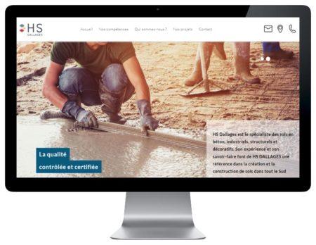REZO 21 agence web bayonne de création de sites Internet WordPress au Pays basque intègre le site de HS Dallages - responsive sur desktop
