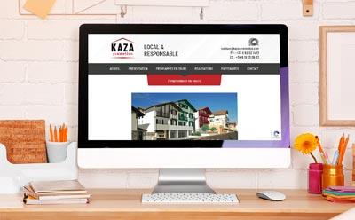 Après son identité visuelle, KAZA promotion lance son site Internet responsive mobile avec l'agence web REZO 21