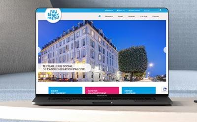 REZO 21, créateur de site Internet sélectionné par Pau Béarn Habitat, 1er bailleur social de l'agglomération paloise pour le développement de son site web