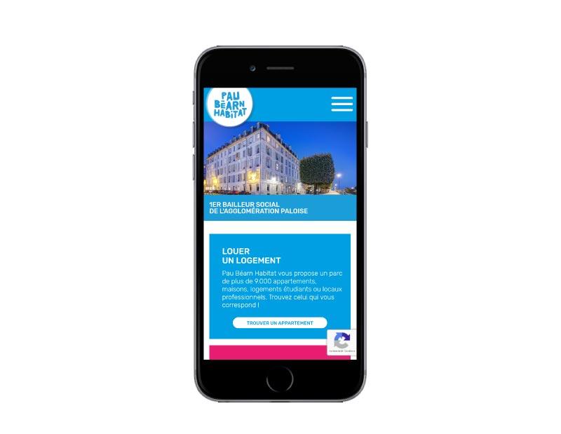 REZO 21 agence web de création de sites Internet au pays basque développe le site wordpress de pau béarn habitat responsive mobile