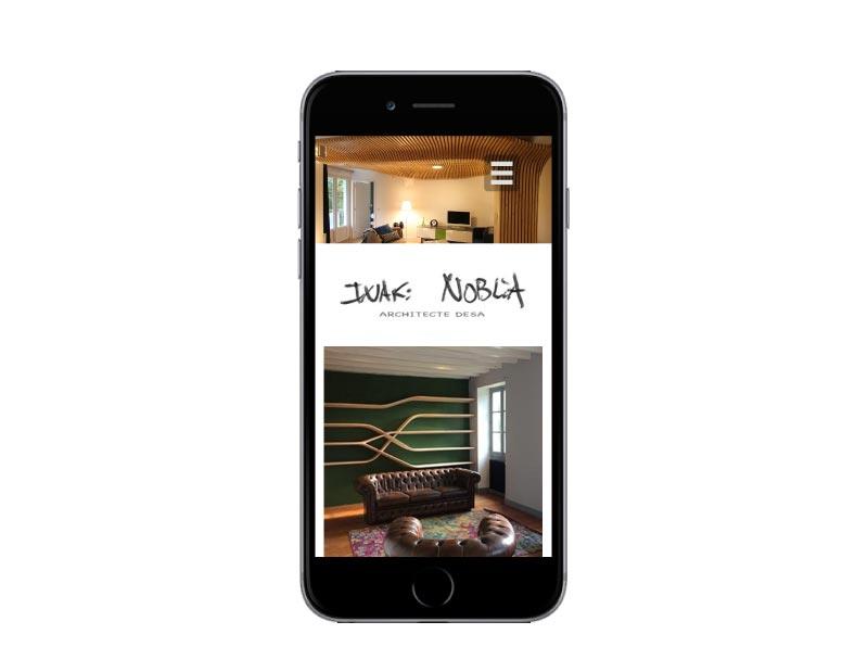 REZO 21, agence web de création de sites internet au pays basque lance le nouveau site internet wordpress de l'architecte Inaki Noblia